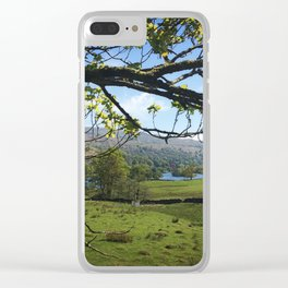 White Moss 2 Clear iPhone Case