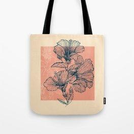 Hibiscus Colors Tote Bag