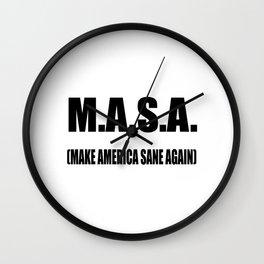 M.A.S.A Wall Clock