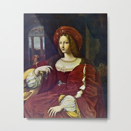 Joanna of Aragon by Raphael Metal Print