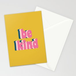 Be Kind Inspirational Anti-Bullying Typography Stationery Cards