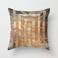 Cave abstraction Throw Pillow