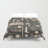 the walking dead Duvet Covers featuring The Walking Dead by Tracie Andrews