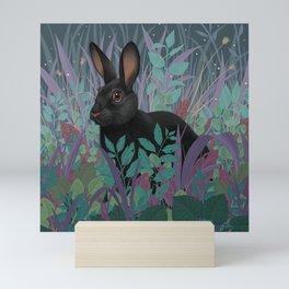 Black Rabbit Mini Art Print