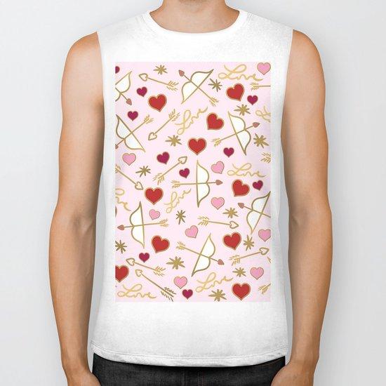 Cupid Love (soft pink) Biker Tank