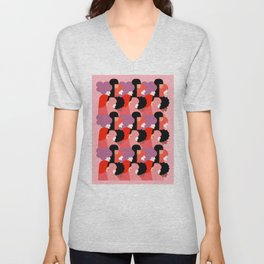 Together Girl Power - Pattern #girlpower Unisex V-Neck