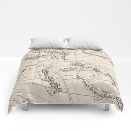 Vintage Map of The Bahamas (1764) Comforters