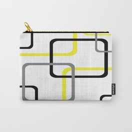 Geometric Rounded Rectangles Collage Yellow Carry-All Pouch