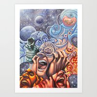blink 182 Art Prints featuring Blink by John Dwelly Art