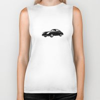 porsche Biker Tanks featuring Porsche 356 by graphic small things