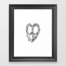 Peace Heart Framed Art Print