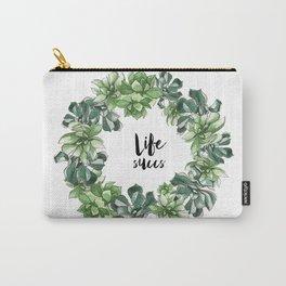 Life Succs - succulent wreath Carry-All Pouch