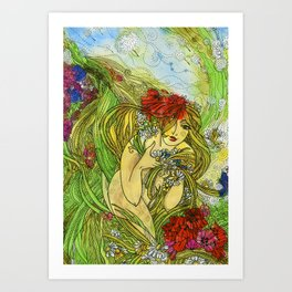 Lady Summer Art Print