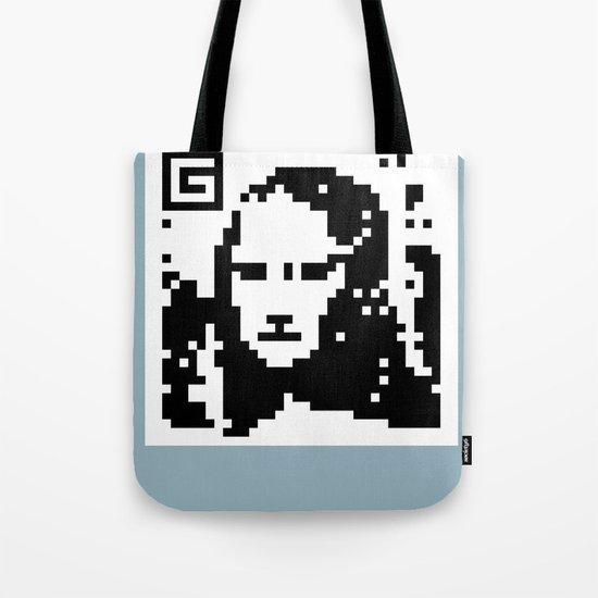 QR- Monalisa Tote Bag