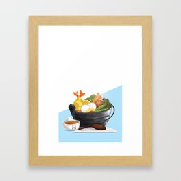 Nabeyaki Udon Framed Art Print