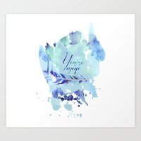 ygritte Art Prints featuring You're mine by Rose's Creation