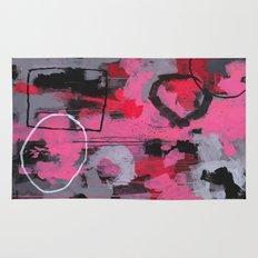 Abstract Painting - Rolling the Big Wheel Rug