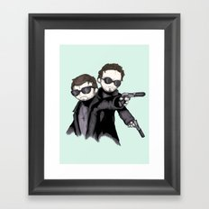Boondock Plushies  Framed Art Print