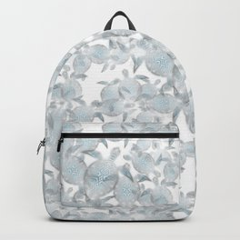 Silver Turtles Pattern Backpack