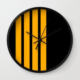 Captain Pilot Stripes Wall Clock