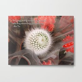 Inspirational-Galactic Flower Metal Print