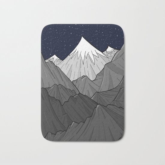The Dark Grey Mountains Bath Mat