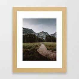 YOSEMITE PATH Framed Art Print