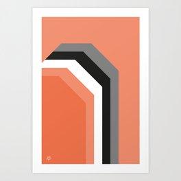 Geometric Halloween #geometric #abstract #art #fall #retro #modern #society6 #buyart #home Art Print