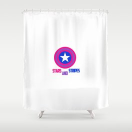 Stars and Stripes- Bisexual Steve Rogers Shower Curtain