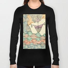 Hundertwasser's last voyage Long Sleeve T-shirt
