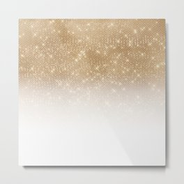 Glamorous Gold Glitter Sequin Ombre Gradient Metal Print