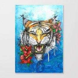 Tiger Power Animal Canvas Print