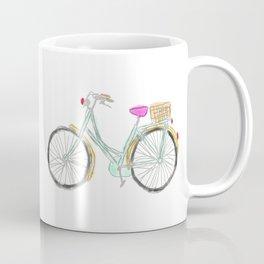 My new bike - digital watercolor bike art Coffee Mug