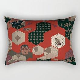 Cosmic child | Deep Red version Rectangular Pillow