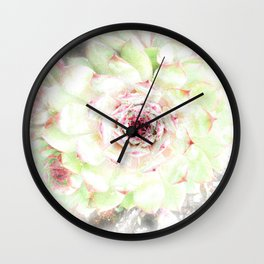 Dreaming Hens and Chicks Wall Clock