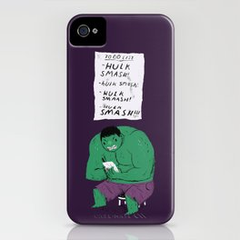 Hulk to do list. iPhone Case