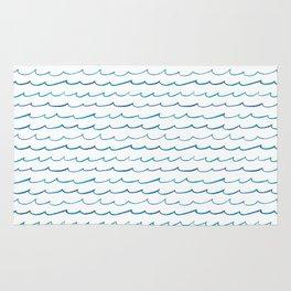 watercolor waves Rug