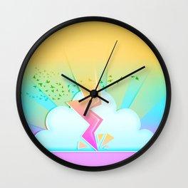 Lightning festival Wall Clock