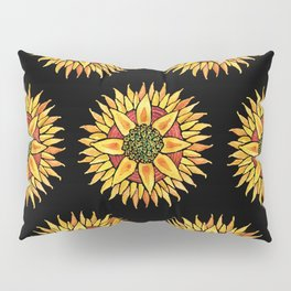 Sunflower Starburst Pillow Sham