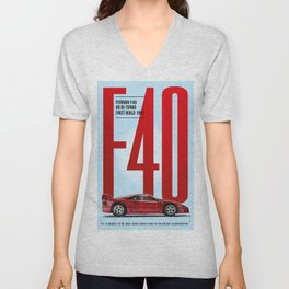 F40 Tribute Unisex V-Neck