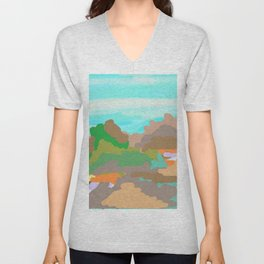 Heroes Climb Mountains Unisex V-Neck