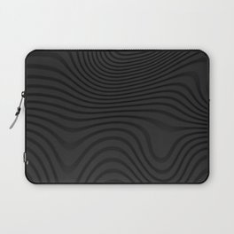 Organic Abstract 02 BLACK Laptop Sleeve