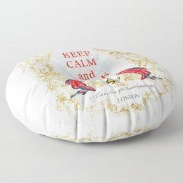 Keep Calm and Drink Tea Floor Pillow