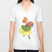 cinderella V-neck T-shirts featuring Cinderella by Celine Billy