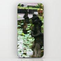 hindu iPhone & iPod Skins featuring Bali - Hindu Goddess Statues by gdesai