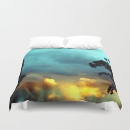 Songs of Blue and Gold Duvet Cover