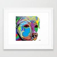 rottweiler Framed Art Prints featuring Rottweiler by EloiseArt