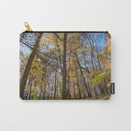 Golden Forest Leaves | Fall Autumn Nature Landscape Photography of Trees in Midwest Forest Carry-All Pouch