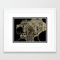 home alone Framed Art Prints featuring Home alone by Swampgoo
