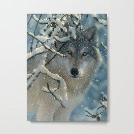 Wolf in Snow - Broken Silence Metal Print